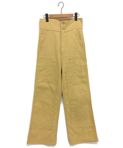 AURALEE(オーラリー)AURALEE (オーラリー) FINX DUCK HIGH WAIST PAINTER P イエロー サイズ:1の古着・服飾アイテム