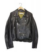 Golden Goose Deluxe Brand(ゴールデングースデラックスブランド)の古着「ダブルライダースジャケット」|ブラック