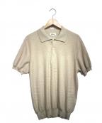 BRIONI(ブリオーニ)の古着「ニットポロシャツ」 ベージュ