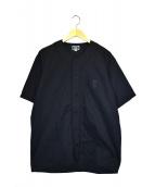 CALEE(キャリー)の古着「BASE BALL S/S SHIRT」|ブラック