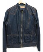 KOJIMA GENES(コジマジーンズ)の古着「13ozケブラー シングルライダースジャケット」 インディゴ