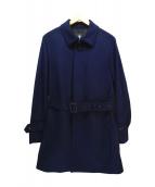 BLACK LABEL CRESTBRIDGE(ブラックレーベルクレストブリッジ)の古着「メルトンシングルコート」|ネイビー