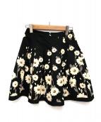 MS GRACY(エムズグレイシー)の古着「マーガレット柄フレスカート」|ブラック