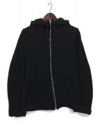 COMME des GARCONS HOMME(コムデギャルソンオム)の古着「裏メッシュジップパーカー」|ブラック
