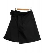 FOXEY NEWYORK(フォクシーニューヨーク)の古着「グログランブーケスカート」 ブラック