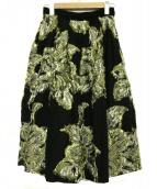 IENA LA BOUCLE(イエナ ラ ブークル)の古着「フラワージャガードボリュームスカート」 ブラック