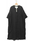 TICCA(ティッカ)の古着「キーネックワンピース」|ブラック