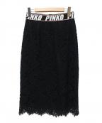 PINKO(ピンコ)の古着「レーススカート」|ブラック