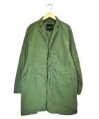 green label relaxing(グリーンレーベルリラクシング)の古着「ナイロンステンカラーコート」|オリーブ