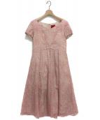 Sybilla(シビラ)の古着「ショール付きレースワンピース」|ピンク