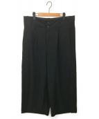 tricot COMME des GARCONS(トリコ コムデギャルソン)の古着「[古着]90'sビッグウエストワイドパンツ」|ブラック