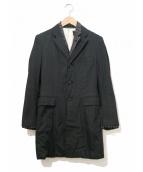COMME des GARCONS(コムデギャルソン)の古着「レイヤードコート」|ブラック