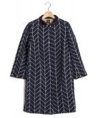 mina perhonen(ミナ ペルホネン)の古着「コート」 ネイビー