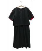 SONIA RYKIEL(ソニアリキエル)の古着「レインケアタイプライターワンピース」|ブラック