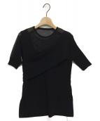 UN3D.(アンスリード)の古着「シアーショルダーニット」|ブラック