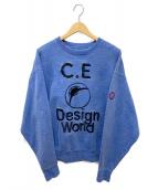 C.E(シーイー)の古着「スウェット」 ブルー