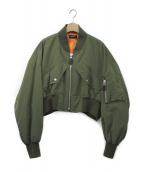 G.V.G.V(ジーヴィージーヴィー)の古着「ショートMA-1ジャケット」 オリーブ