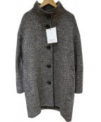 GEORGES RECH(ジョルジュレッシュ)の古着「ホームスパンツイードスタンドカラーコート」|ブラック