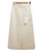 CURRENTAGE(カレンテージ)の古着「ハイウエストスカート」|オフホワイト