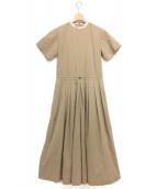 TOGA PULLA(トーガ プルラ)の古着「ストレッチタフタジャンプスーツ」|ベージュ