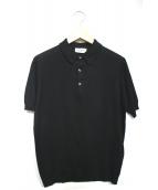 JOHN SMEDLEY(ジョンスメドレ)の古着「ポロシャツ」|ブラック