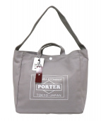 PORTER(ポーター)の古着「キャンバストートバッグ」|グレー