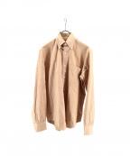BRIONI(ブリオーニ)の古着「ボタンダウンドレスシャツ」 ベージュ