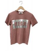 MSGM(エムエスジーエム)の古着「ロゴプリントtシャツ」|ピンク