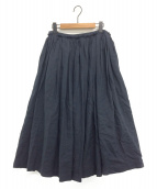 yunahica(ユナヒカ)の古着「ラミーギャザースカート」 ネイビー
