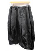 BLACK COMME des GARCONS(ブラックコムデギャルソン)の古着「AD2017/ローズジャガードサルエルパンツ」 ブラック
