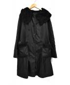 TO BE CHIC(トゥービーシック)の古着「中綿ナイロンコート」|ブラック
