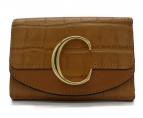 Chloe(クロエ)の古着「クロコ型押し3つ折り財布」