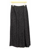 yohji yamamoto+Noir(ヨウジヤマモトプリュスノアール)の古着「ベルベット切替マキシスカート」|ブラック