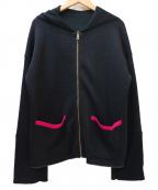 SONIA RYKIEL(ソニア リキエル)の古着「ラメリバートータル フードパーカ」|ブラック