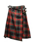 ONEIL OF DUBLIN(オニール オブ ダブリン)の古着「ラップスカート」|レッド