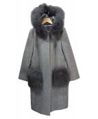 JUSGLITTY(ジャスグリッティー)の古着「ポケットファーコート」|グレー