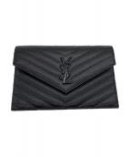 Yves Saint Laurent(イブサンローラン)の古着「モノグラムチェーンウォレット」|ブラック