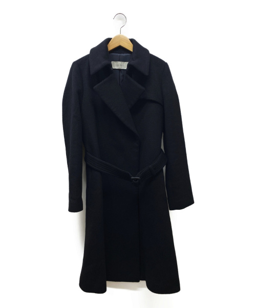 DES PRES(デ・プレ)DES PRES (デ・プレ) カシミヤビーバートレンチコート ブラック サイズ:36の古着・服飾アイテム