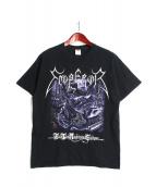 バンドTシャツ(バンドTシャツ)の古着「[古着]EMPERORバンドTシャツ」|ブラック