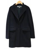 HACHE(アッシュ)の古着「カシミヤ混コート」|ネイビー
