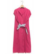 SOFIE D'HOORE(ソフィードール)の古着「ドレスワンピース」|ショッキングピンク