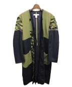 COMME des GARCONS SHIRT(コムデギャルソンシャツ)の古着「フリースライナーコート」|オリーブ×ネイビー