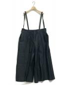 Mochi(モチ)の古着「denim wide suspenders pants」 インディゴ