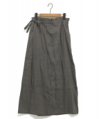 Mochi(モチ)の古着「french linen wrap wide pants」|グレー