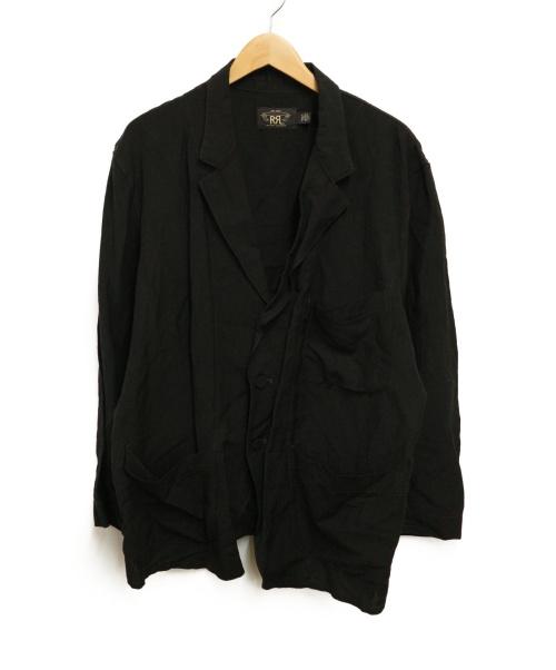RRL(ダブルアールエル)RRL (ダブルアールエル) リネン混ジャケット ブラック サイズ:Lの古着・服飾アイテム