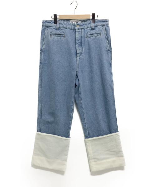 LOEWE(ロエベ)LOEWE (ロエベ) コントラストヘムジーンズ インディゴ サイズ:50の古着・服飾アイテム