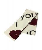 RAF SIMONS(ラフシモンズ)の古着「I Love Youマフラー」 アイボリー×ブラック
