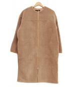 MICA&DEAL(マイカ&ディール)の古着「ボアノーカラーコート」 モカ