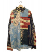 DENIM & SUPPLY RALPH LAUREN(デニムアンドサプライ ラルフローレン)の古着「総柄ガーゼシャツ」
