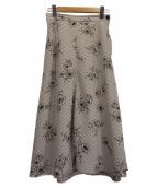 IENA(イエナ)の古着「ストライプフラワースカート」|ベージュ